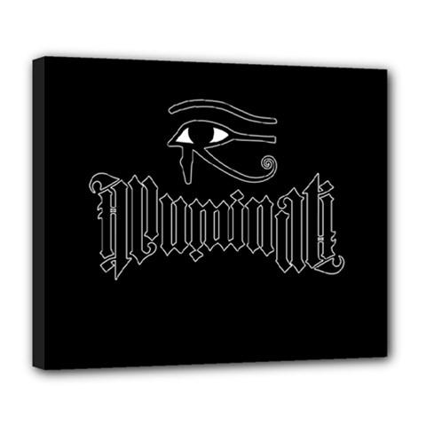 Illuminati Deluxe Canvas 24  X 20   by Valentinaart