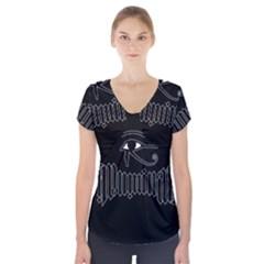 Illuminati Short Sleeve Front Detail Top by Valentinaart