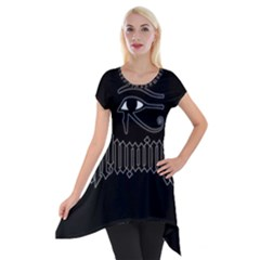 Illuminati Short Sleeve Side Drop Tunic by Valentinaart