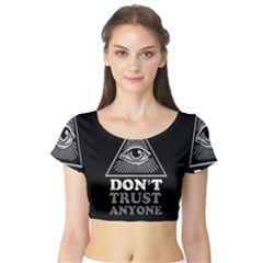 Illuminati Short Sleeve Crop Top (tight Fit) by Valentinaart