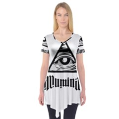 Illuminati Short Sleeve Tunic  by Valentinaart