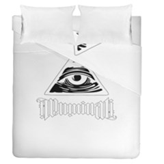 Illuminati Duvet Cover Double Side (queen Size) by Valentinaart