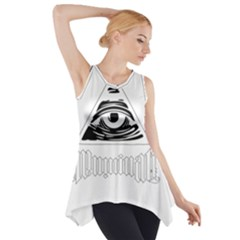 Illuminati Side Drop Tank Tunic by Valentinaart