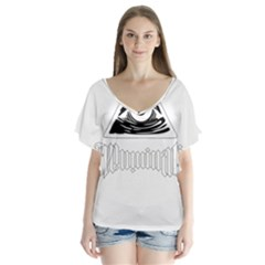 Illuminati Flutter Sleeve Top by Valentinaart