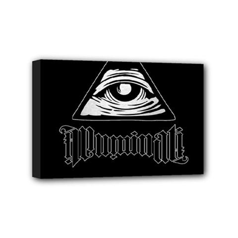 Illuminati Mini Canvas 6  X 4  by Valentinaart