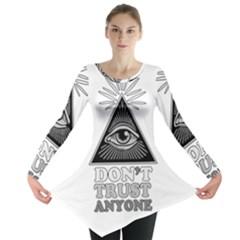 Illuminati Long Sleeve Tunic  by Valentinaart