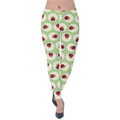 Ladybugs Pattern Velvet Leggings by linceazul