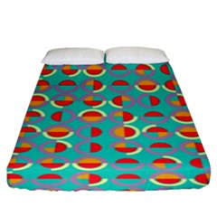 Semicircles And Arcs Pattern Fitted Sheet (king Size) by linceazul