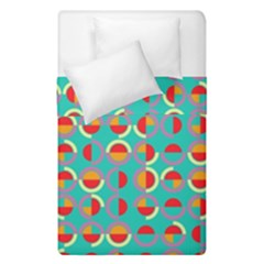 Semicircles And Arcs Pattern Duvet Cover Double Side (single Size) by linceazul