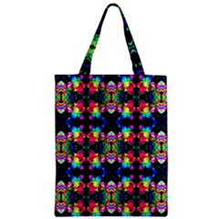 Colorful Bright Seamless Flower Pattern Zipper Classic Tote Bag by Costasonlineshop