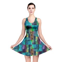 Abstract Square Wall Reversible Skater Dress by Costasonlineshop