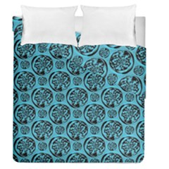 Turquoise Pattern Duvet Cover Double Side (queen Size) by linceazul