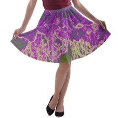 Colors A Line Skater Skirt by Valentinaart