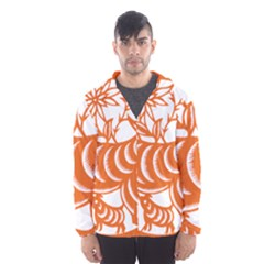 Chinese Zodiac Goat Star Orange Hooded Wind Breaker (men) by Mariart