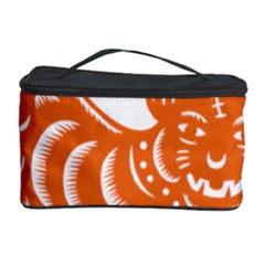 Chinese Zodiac Signs Tiger Star Orangehoroscope Cosmetic Storage Case by Mariart