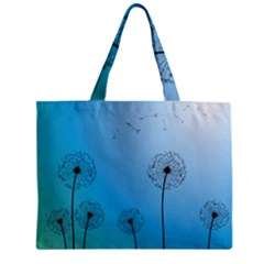Flower Back Blue Green Sun Fly Zipper Mini Tote Bag by Mariart
