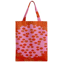 Distance Absence Sea Holes Polka Dot Line Circle Orange Chevron Wave Zipper Classic Tote Bag by Mariart
