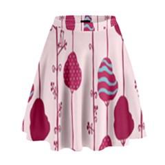 Flower Floral Mpink Frame High Waist Skirt by Mariart