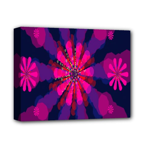 Flower Red Pink Purple Star Sunflower Deluxe Canvas 14  X 11  by Mariart