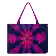 Flower Red Pink Purple Star Sunflower Medium Tote Bag by Mariart