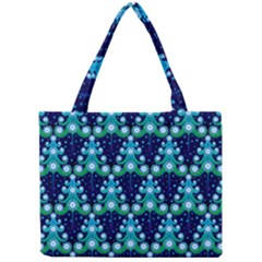 Christmas Tree Snow Green Blue Mini Tote Bag by Mariart
