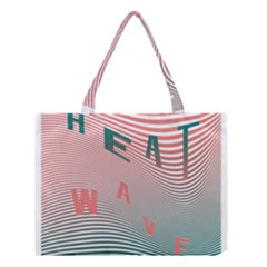 Heat Wave Chevron Waves Red Green Medium Tote Bag by Mariart