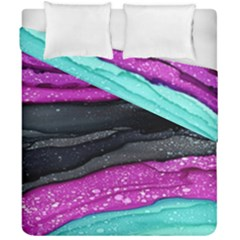 Green Pink Purple Black Stone Duvet Cover Double Side (california King Size) by Mariart