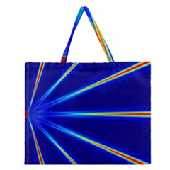 Light Neon Blue Zipper Large Tote Bag by Mariart