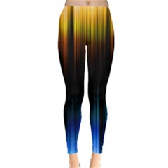 Light Orange Blue Leggings  by Mariart