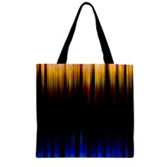 Light Orange Blue Zipper Grocery Tote Bag by Mariart