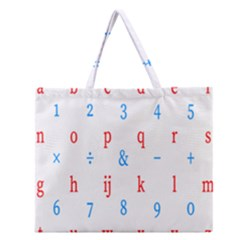 Source Serif Number Zipper Large Tote Bag by Mariart
