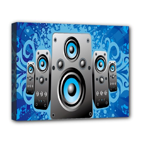 Sound System Music Disco Party Deluxe Canvas 20  X 16   by Mariart