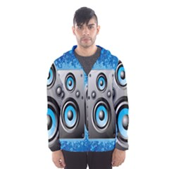 Sound System Music Disco Party Hooded Wind Breaker (men) by Mariart