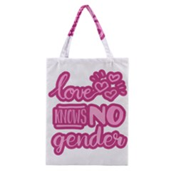 Love Knows No Gender Classic Tote Bag by Valentinaart