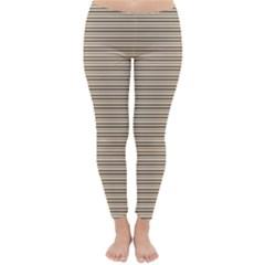 Lines pattern Classic Winter Leggings by Valentinaart
