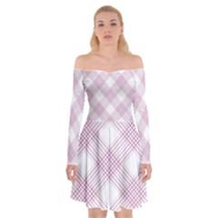 Zigzag Pattern Off Shoulder Skater Dress