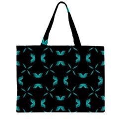 Background Black Blue Polkadot Zipper Large Tote Bag by Mariart