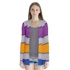 Colorful Geometry Shapes Line Green Grey Pirple Yellow Blue Cardigans by Mariart