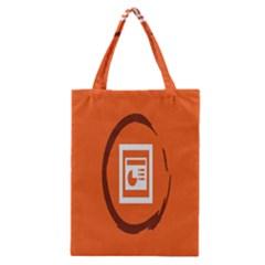 Circles Orange Classic Tote Bag by Mariart