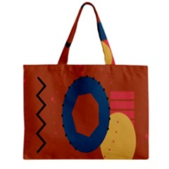 Digital Music Is Described Sound Waves Zipper Mini Tote Bag by Mariart