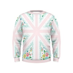 Frame Flower Floral Sunflower Line Kids  Sweatshirt by Mariart