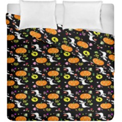 Ghost Pumkin Craft Halloween Hearts Duvet Cover Double Side (king Size) by Mariart