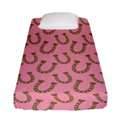 Horse Shoes Iron Pink Brown Fitted Sheet (single Size) by Mariart