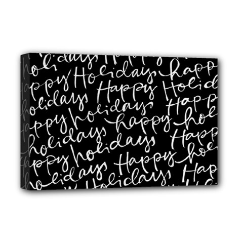 Happy Holidays Deluxe Canvas 18  X 12   by Mariart