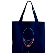 Line Light Blue Green Red Yellow Zipper Grocery Tote Bag by Mariart
