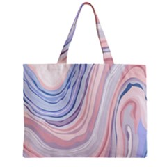 Marble Abstract Texture With Soft Pastels Colors Blue Pink Grey Mini Tote Bag by Mariart