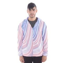 Marble Abstract Texture With Soft Pastels Colors Blue Pink Grey Hooded Wind Breaker (men) by Mariart