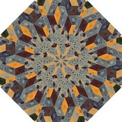 Apophysis Isometric Tessellation Orange Cube Fractal Triangle Hook Handle Umbrellas (small) by Mariart