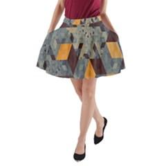 Apophysis Isometric Tessellation Orange Cube Fractal Triangle A Line Pocket Skirt by Mariart