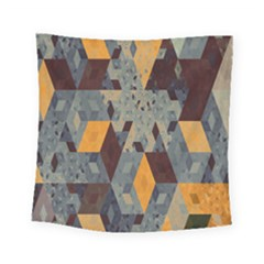 Apophysis Isometric Tessellation Orange Cube Fractal Triangle Square Tapestry (small) by Mariart